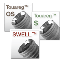 S, OS, Swell abutments screw-retained
